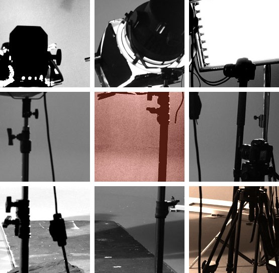 Projecteurs sur un tournage