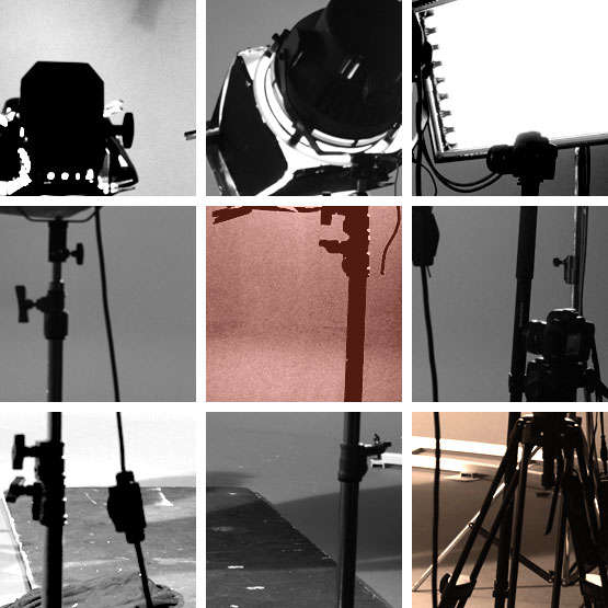 Projecteurs sur projet vidéo, production audiovisuelle